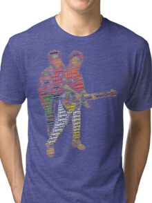 Come and dance every night, sing with a hula melody Tri-blend T-Shirt