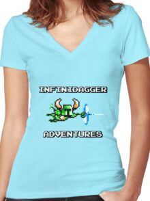 Infinidagger Adventures Women's Fitted V-Neck T-Shirt