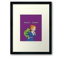 Frizzle > School Purple Framed Print