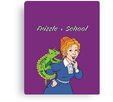 Frizzle > School Purple Canvas Print