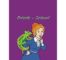 Frizzle > School Purple Photographic Print