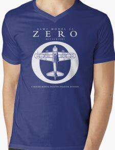 Mitsubishi Zero! Banzai! Mens V-Neck T-Shirt