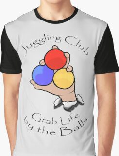 Juggling Club Grab Life by the Balls Graphic T-Shirt