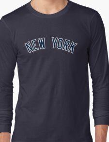 New York Yankees Simple Font Long Sleeve T-Shirt
