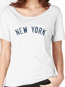 New York Yankees Simple Font Women's Relaxed Fit T-Shirt