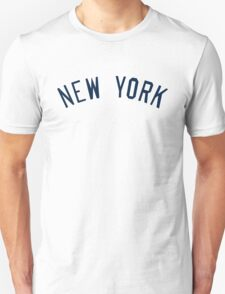 New York Yankees Simple Font T-Shirt