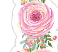 Pink Watercolor Flower Bouquet Sticker