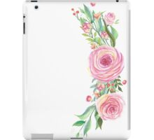 Pink Watercolor Flower Bouquet iPad Case/Skin