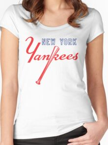 New York Yankees Old Logo Women's Fitted Scoop T-Shirt
