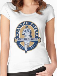 Mariano Rivera New York Yankees Legend Women's Fitted Scoop T-Shirt