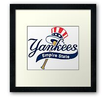 New York Yankees Empire State Framed Print