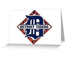 Detroit Tigers Basic Logo Greeting Card