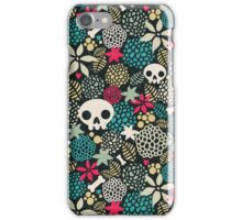 Skulls and flowers. (2) iPhone Case/Skin