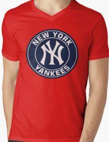 New York Yankees Old Logo Mens V-Neck T-Shirt