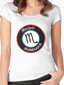 mitchell skateboards Women's Fitted Scoop T-Shirt