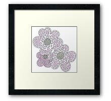 Shocking Pink Lace Flowers Framed Print