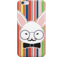 Rabbit Head with Glasses iPhone Case/Skin