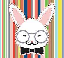 Rabbit Head with Glasses by AnnArtshock