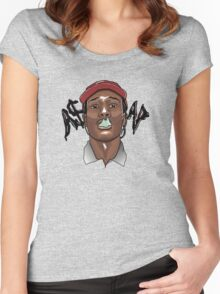 A$AP ROCKY - SMOKE Women's Fitted Scoop T-Shirt
