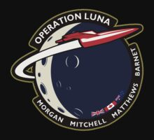 Journey Into Space - Operation Luna Mission Patch Baby Tee