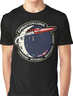 Journey Into Space - Operation Luna Mission Patch - Distressed Graphic T-Shirt