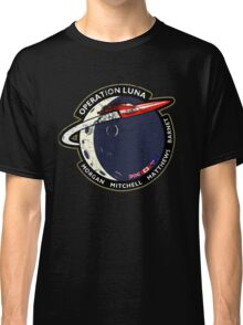 Journey Into Space - Operation Luna Mission Patch - Distressed Classic T-Shirt
