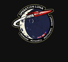 Journey Into Space - Operation Luna Mission Patch - Distressed Unisex T-Shirt
