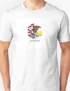 Illinois USA State Flag Chicago Bedspread T-Shirt Sticker T-Shirt