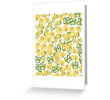 Green Yellow Flowers Greeting Card