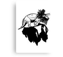 Bottle Brush Dino Canvas Print