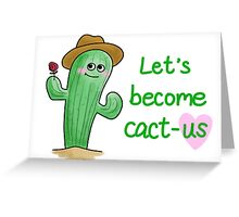Blushing Cactus Greeting Card
