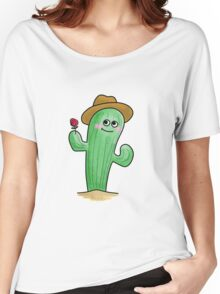 Blushing Cactus Women's Relaxed Fit T-Shirt