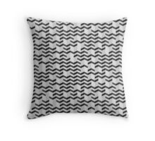 FOLDED / black Throw Pillow