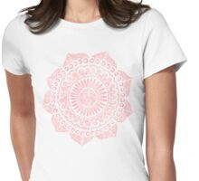 Blush Lace Womens Fitted T-Shirt