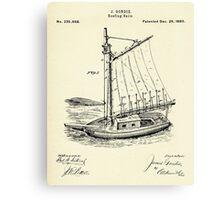 Reefing Sails-1880 Canvas Print
