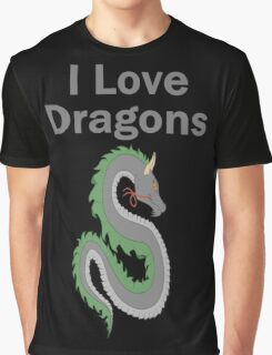 I Love Dragons - Dragon Design - (Designs4You) - Chinese Dragon Graphic T-Shirt