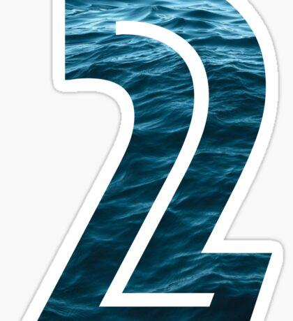 Number 2 - Ocean Sticker