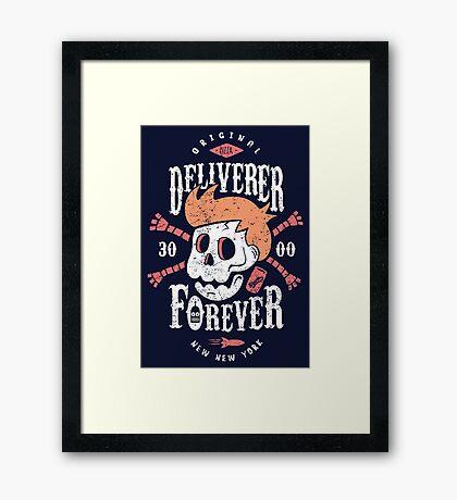 Deliverer Forever Framed Print