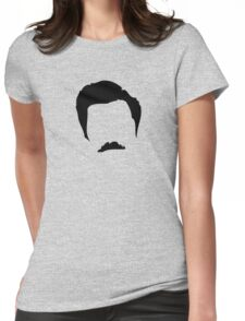 Ron Swanson Silhouette  Womens Fitted T-Shirt