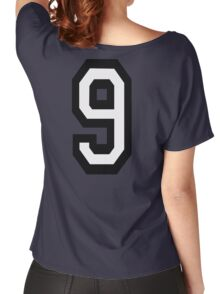 9, TEAM, SPORTS, NUMBER 9, NINE, NINTH, competition Women's Relaxed Fit T-Shirt