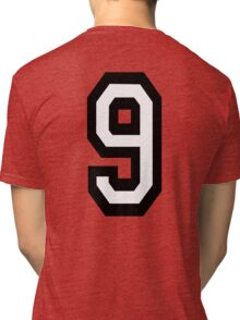 9, TEAM, SPORTS, NUMBER 9, NINE, NINTH, competition Tri-blend T-Shirt