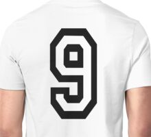 9, TEAM, SPORTS, NUMBER 9, NINE, NINTH, competition Unisex T-Shirt