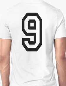 9, TEAM SPORTS, NUMBER 9, NINE, NINTH, competition T-Shirt