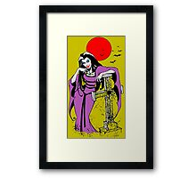 Graveyard antics Framed Print