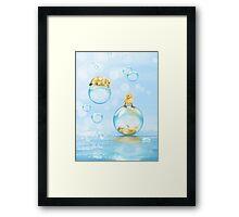 Water games Framed Print