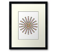 3 Cube CMY Concentric Framed Print