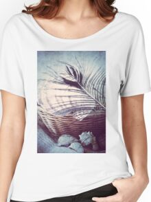 Feather on Basket of Shells Women's Relaxed Fit T-Shirt