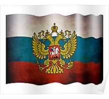 Waving flag of Russia Poster