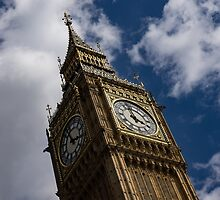 British Symbols and Landmarks - Big Ben, the Iconic Clock Tower of the Palace of Westminster by Georgia Mizuleva