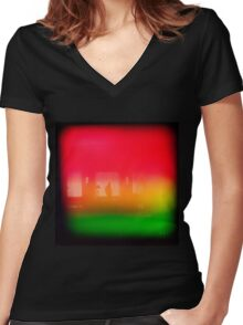 Losing Sleep Dreaming  Women's Fitted V-Neck T-Shirt